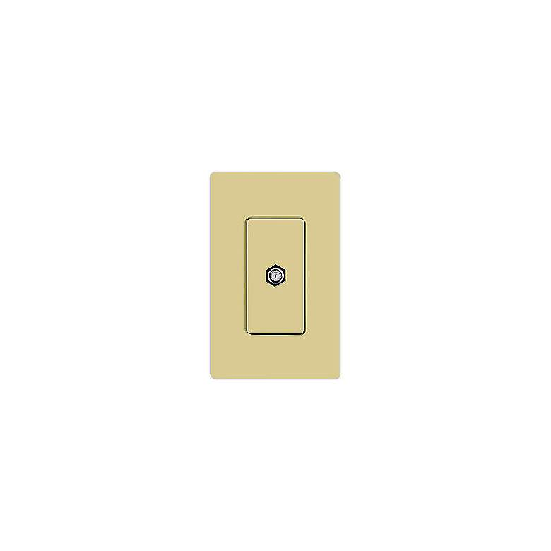 Lutron Claro Cable TV Jack - Ivory