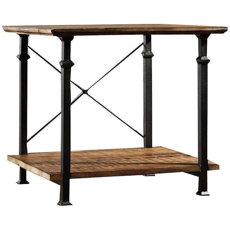 Wagner 24 Wide Natural Pine Modern Farmhouse End Table