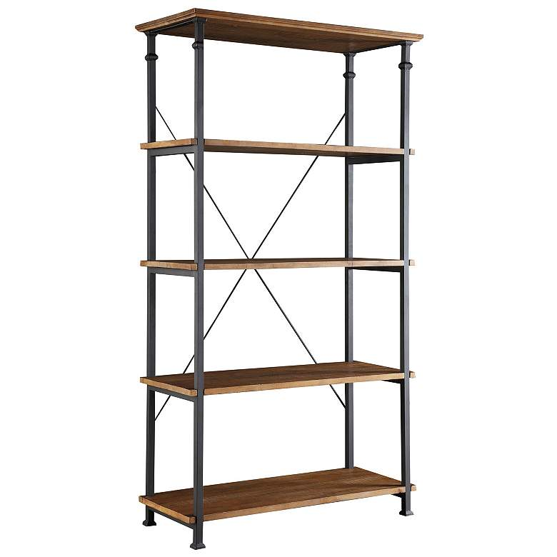 "Wagner 72"" High Natural Pine Wide Bookshelf"