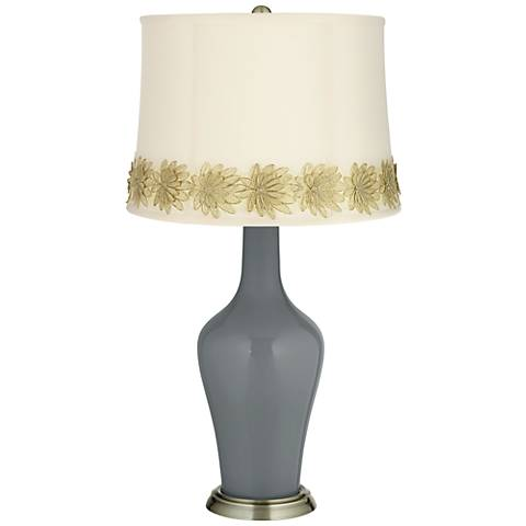 Software Anya Table Lamp with Flower Applique Trim