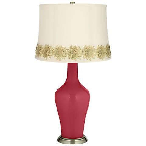 Samba Anya Table Lamp with Flower Applique Trim