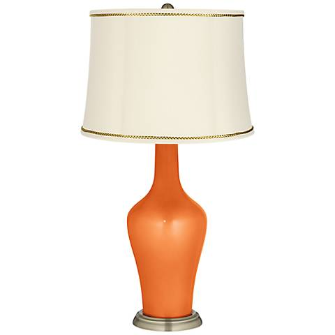 Burnt Orange Metallic Anya Lamp with President's Braid Trim