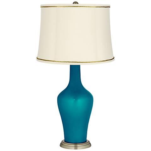 Turquoise Metallic Anya Lamp with President's Braid Trim