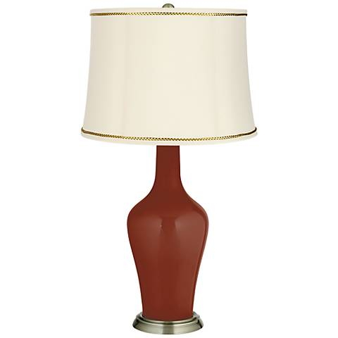 Fired Brick Anya Table Lamp with President's Braid Trim