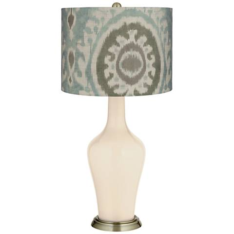 Steamed Milk Blue Batik Paisley Anya Table Lamp