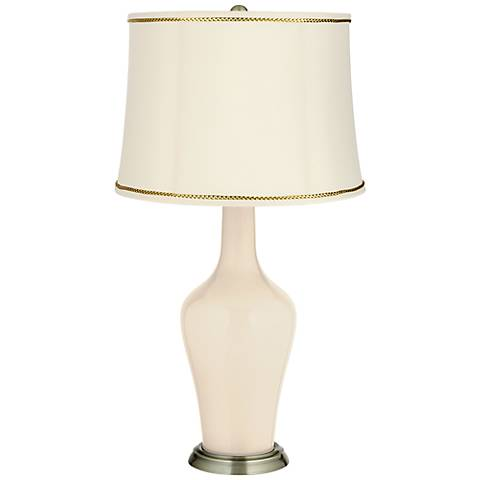 Steamed Milk Anya Table Lamp with President's Braid Trim
