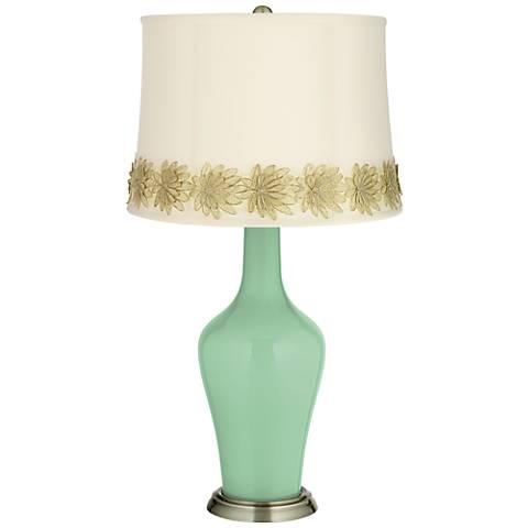 Hemlock Anya Table Lamp with Flower Applique Trim