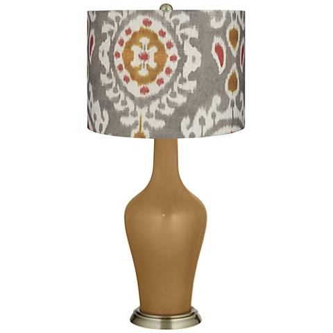 Gray Batik Paisley Gray Batik Paisley Anya Table Lamp