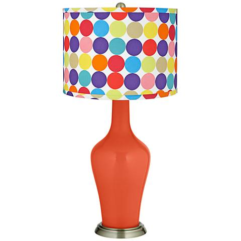 Daredevil Multi-Color Circles Shade Anya Table Lamp