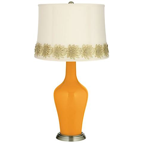 Carnival Anya Table Lamp with Flower Applique Trim