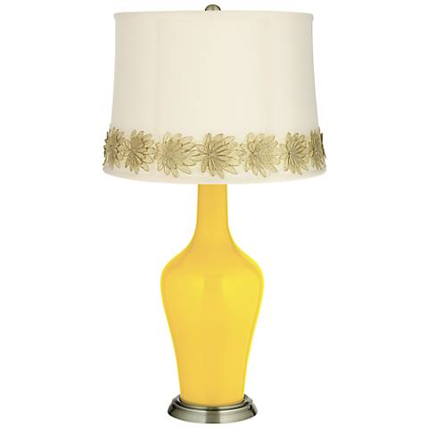 Citrus Anya Table Lamp with Flower Applique Trim