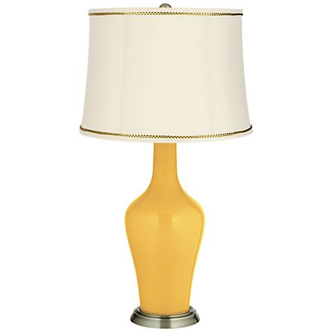 Goldenrod Anya Table Lamp with President's Braid Trim