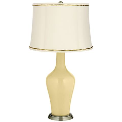 Butter Up Anya Table Lamp with President's Braid Trim