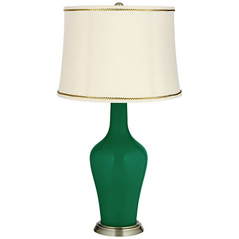Greens Anya Table Lamp with President's Braid Trim