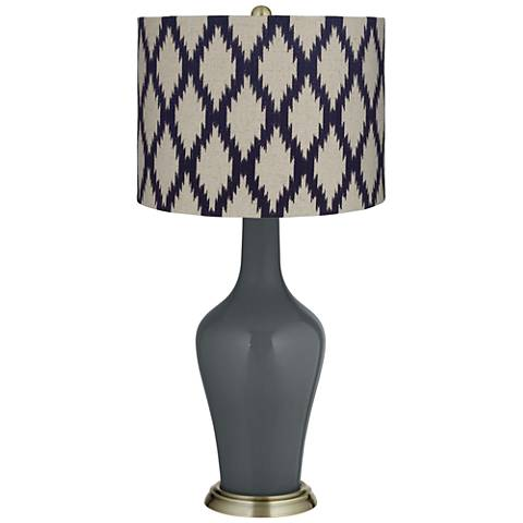 Black of Night Beige Diamonds Anya Table Lamp