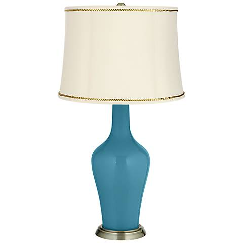 Great Falls Anya Table Lamp with President's Braid Trim