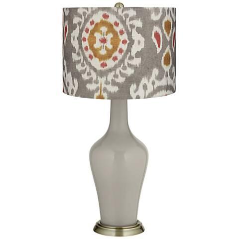 Requisite Gray Batik Paisley Anya Table Lamp