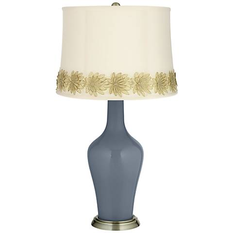 Granite Peak Anya Table Lamp with Flower Applique Trim