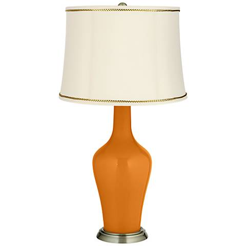 Cinnamon Spice Anya Table Lamp with President's Braid Trim