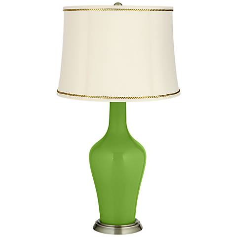 Rosemary Green Anya Table Lamp with President's Braid Trim