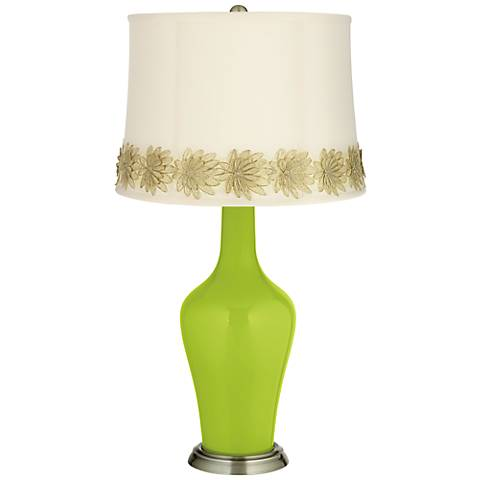 Tender Shoots Anya Table Lamp with Flower Applique Trim