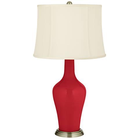 Ribbon Red Anya Table Lamp