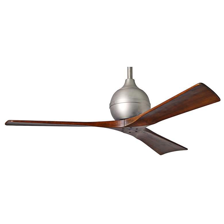 """52"""" Matthews Irene 3-Blade Walnut - Nickel Ceiling Fan"""
