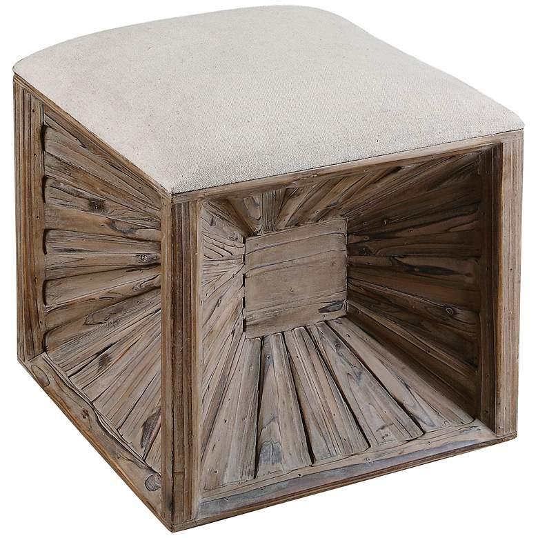Uttermost Jia Weathered Wood Ottoman