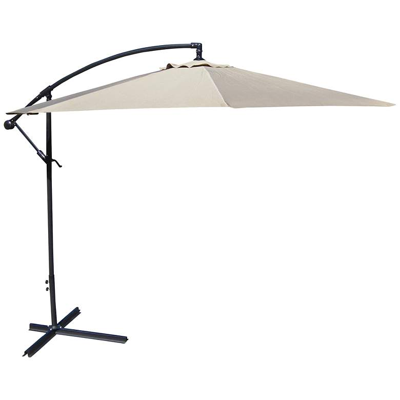 10-Foot Offset Umbrella in Natural Polyester