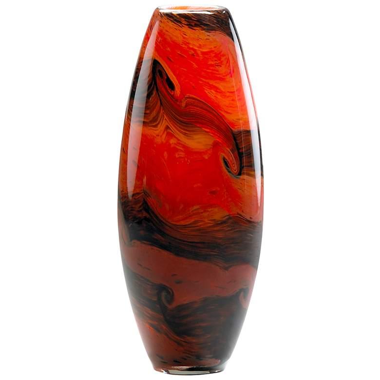 "Small Italian 11 3/4"" High Glass Vase"