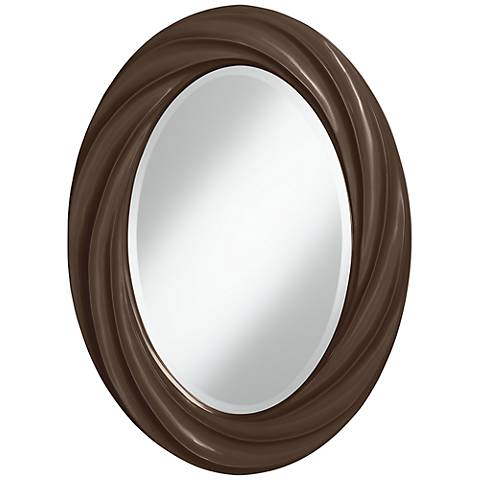 "Carafe 30"" High Oval Twist Wall Mirror"