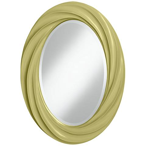 "Linden Green 30"" High Oval Twist Wall Mirror"