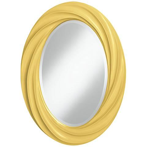 """Daffodil 30"""" High Oval Twist Wall Mirror"""