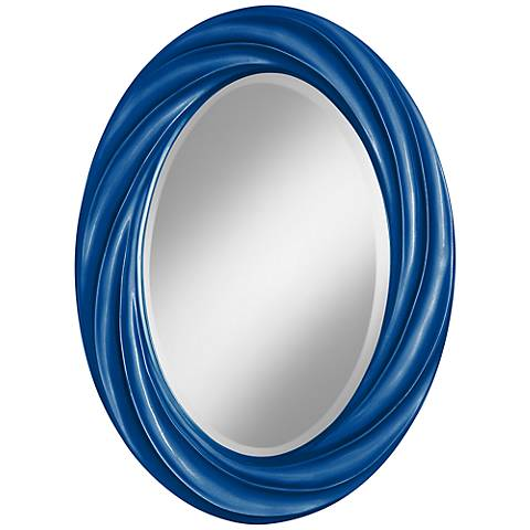 "Ocean Metallic 30"" High Oval Twist Wall Mirror"