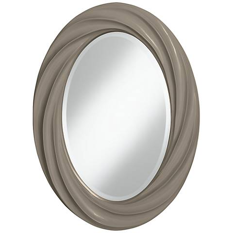 "Backdrop 30"" High Oval Twist Wall Mirror"