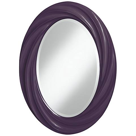 "Quixotic Plum 30"" High Oval Twist Wall Mirror"