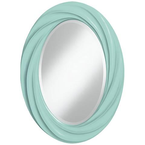 """Cay 30"""" High Oval Twist Wall Mirror"""