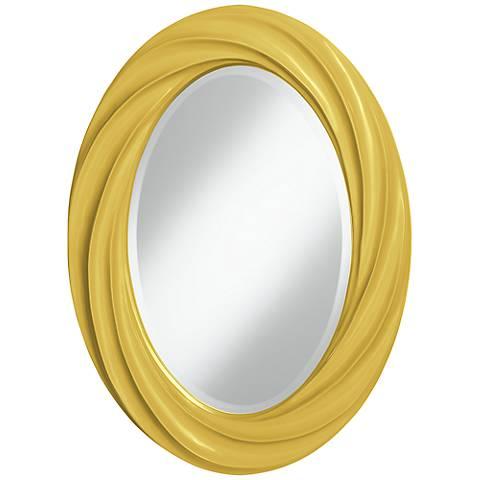 """Nugget 30"""" High Oval Twist Wall Mirror"""