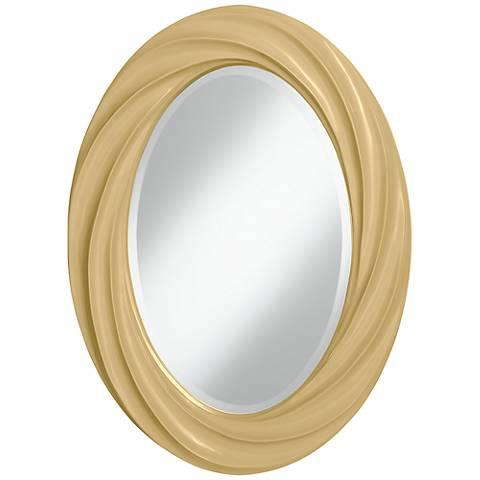 "Humble Gold 30"" High Oval Twist Wall Mirror"