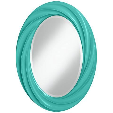 """Synergy 30"""" High Oval Twist Wall Mirror"""