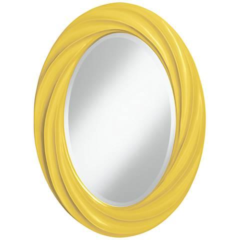 """Lemon Zest 30"""" High Oval Twist Wall Mirror"""