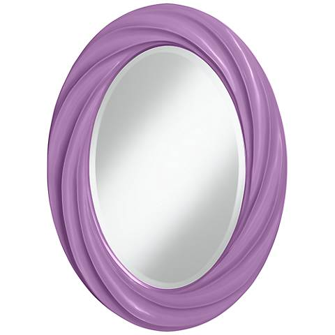"""African Violet 30"""" High Oval Twist Wall Mirror"""