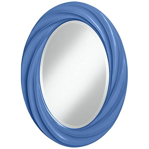 "Dazzle 30"" High Oval Twist Wall Mirror"