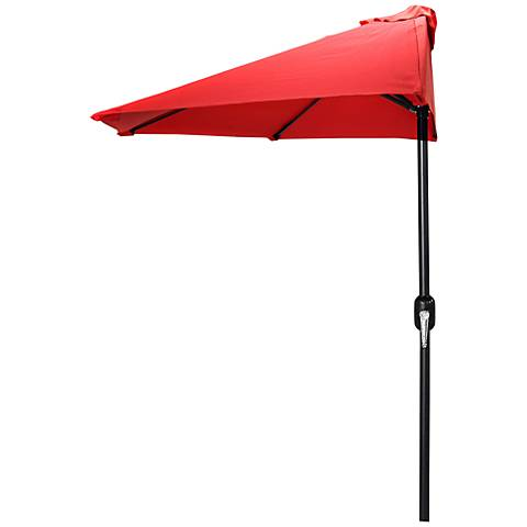 Half Patio Umbrella in Steel Red