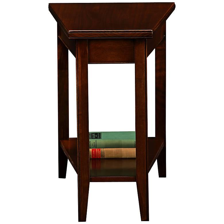 "Laurent 17"" Wide Solid Wood Recliner Wedge Table"