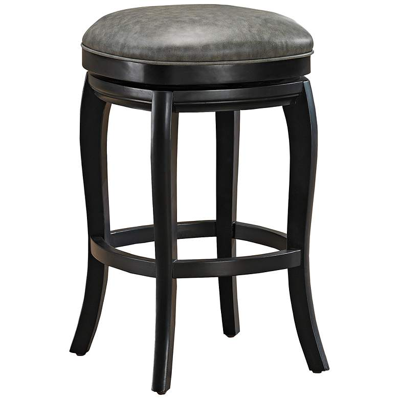"American Heritage Madrid 26"" Black Swivel Counter Stool"