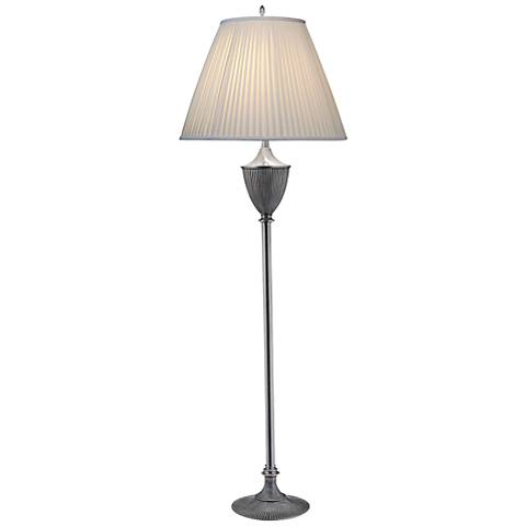 Stiffel Urn Style Pewter Traditional Floor Lamp
