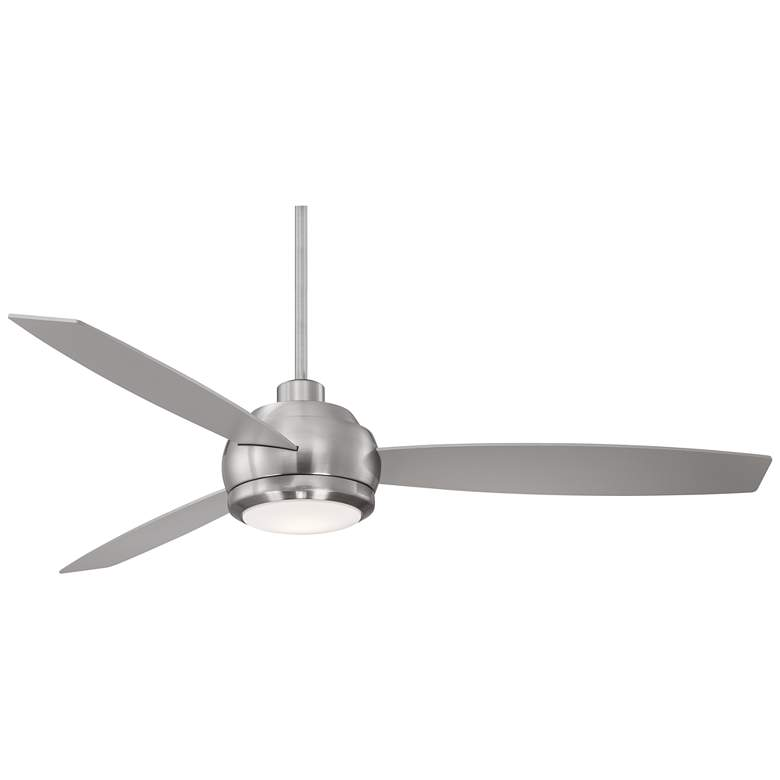 "60"" Casa Aleso™ Brushed Nickel LED Ceiling Fan"