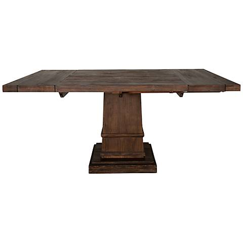 Hudson Rustic Java Square Extension Dining Table