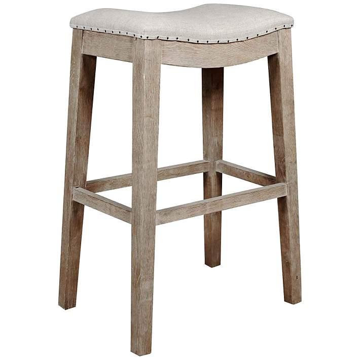 Harper 31 Stone Wash Saddle Seat Bar, Orient Express Furniture Bar Stools